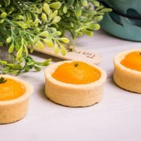 Roasted pureed pumpkin and thyme mini tartlet from canape menu by Avala, Hampshire.